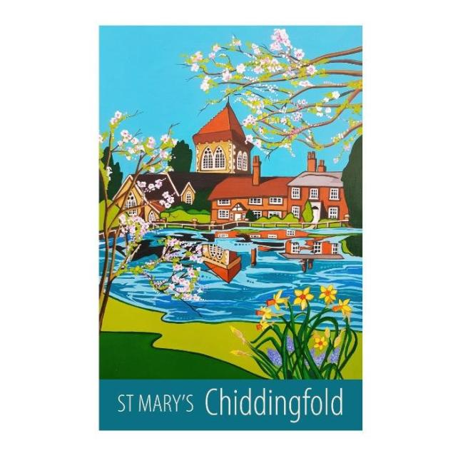 Chiddingfold St Mary's print - unframed