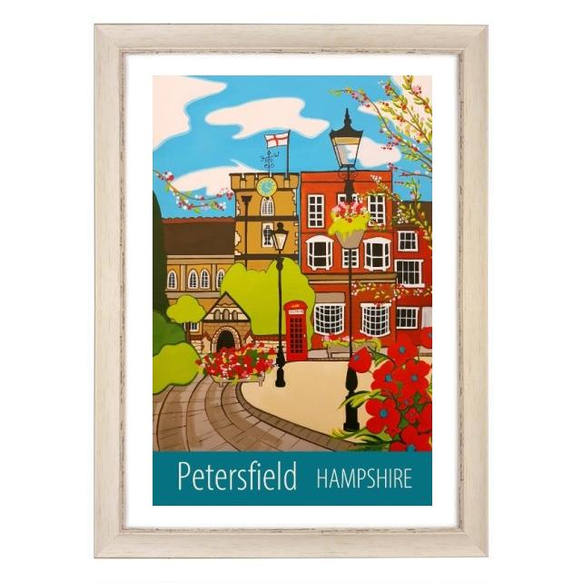 Petersfield Hampshire print - white frame