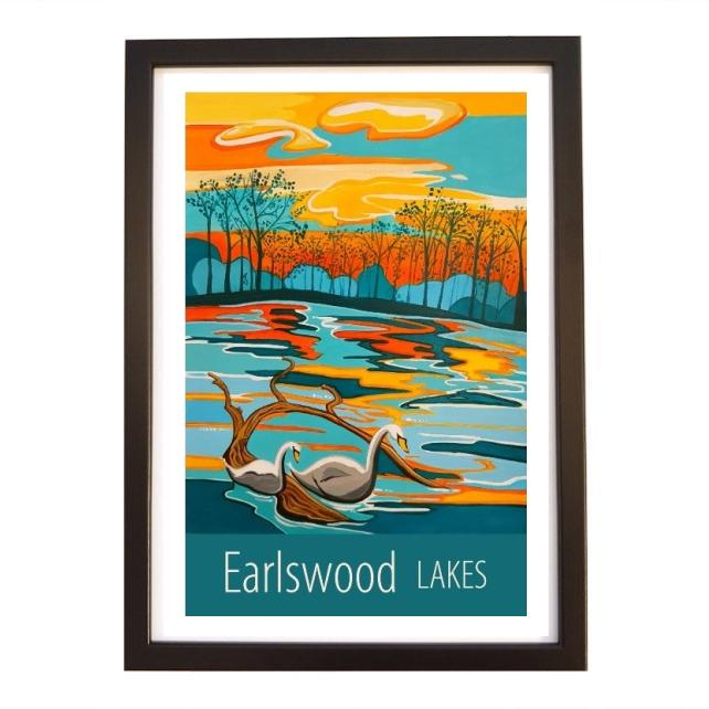 Earlswood Lakes - Black frame