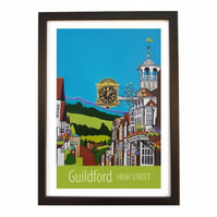 Guildford High Street - Black frame