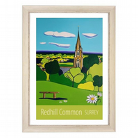 Redhill Common travel poster print by Susie West