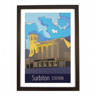 Surbiton Station - Black frame
