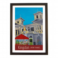 Kingston-upon-Thames - Black frame