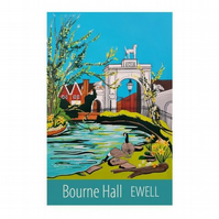 Ewell, Bourne Hall print - unframed