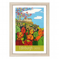Edinburgh Castle - White frame