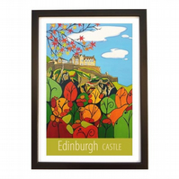 Edinburgh Castle - Black frame