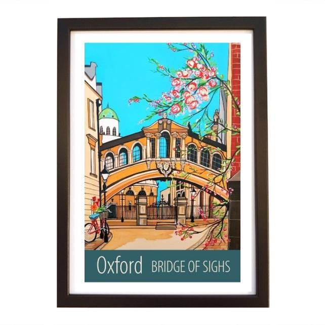 Oxford Bridge of Sighs - Black frame