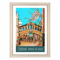 Oxford Bridge of Sighs - White frame