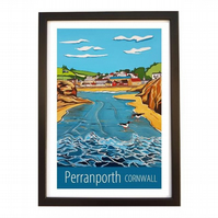 Perranporth - Black frame