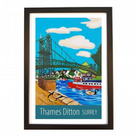 Thames Ditton - black frame