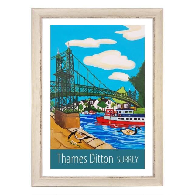 Thames Ditton - white frame
