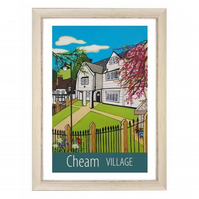 Cheam - white frame
