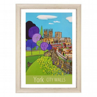 York City Walls - white frame