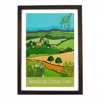 Newlands Corner - black frame