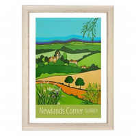 Newlands Corner - white frame