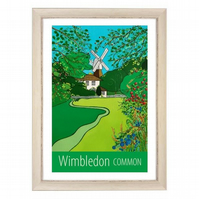 Wimbledon Common travel poster print by Susie West