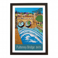 Bath Pulteney Bridge - Black frame