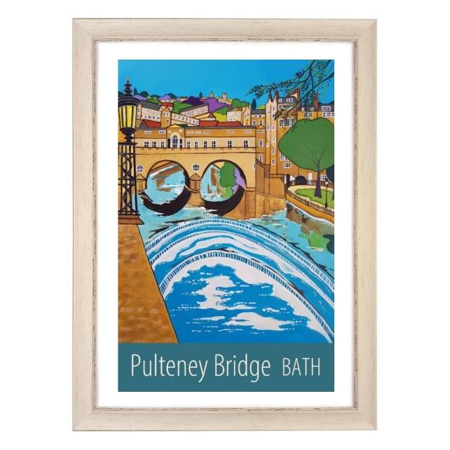 Bath Pulteney Bridge - White frame