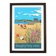 Broughty Ferry, Dundee travel poster print by Susie West