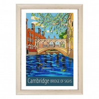 Cambridge, Bridge of Sighs - white frame