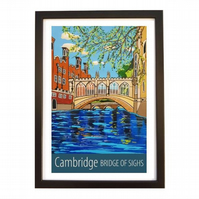 Cambridge, Bridge of Sighs - black frame