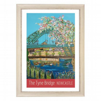 Newcastle Tyne Bridge - white frame