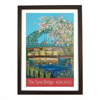 Newcastle Tyne Bridge - black frame