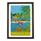 Teddington Lock - black frame