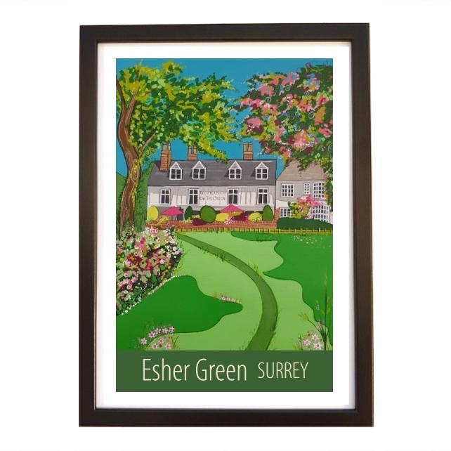 Esher Green - black frame