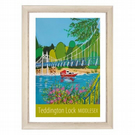 Teddington Lock - white frame
