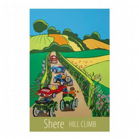 Shere Hill Climb - unframed