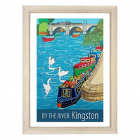 Kingston by the river - white frame