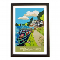 Walton On Thames - black frame