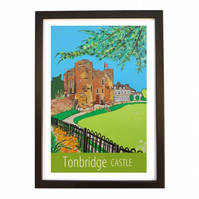 Tonbridge Castle - black frame