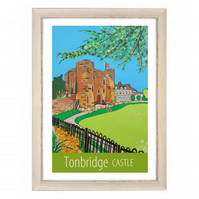 Tonbridge Castle - white frame