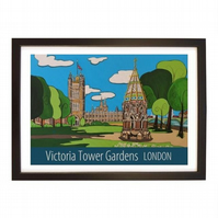Victoria Tower Gardens - Black frame
