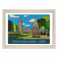 Victoria Tower Gardens - White frame