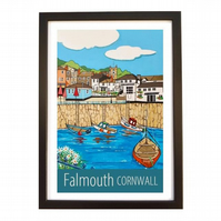Falmouth travel poster print by Susie West