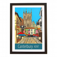 Canterbury Kent travel poster print by Susie West