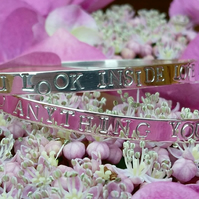 Lyric bangle