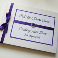 Personalised Cadbury Wedding Guest Book (any colour)