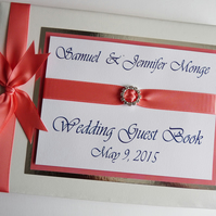 Personalised Wedding Guest Book (any colour)