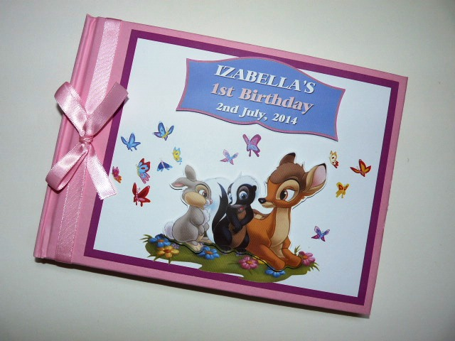 Personalised First Birthday Guest book