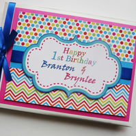 Personalised First Birthday Guest book - any design