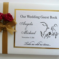 Beauty and the beast wedding guest book