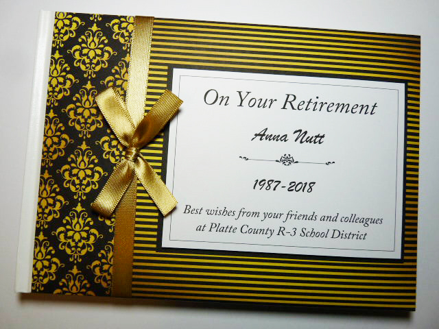 Personalised Retirement Guest book