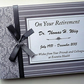 Personalised Grey Retirement Guest book