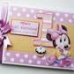 Personalised Baby Minnie Baby 1st Birthday Guest Book