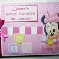 Personalised Baby Minnie Baby Shower, Birthday Guest Book