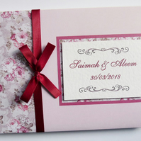Personalised Wedding Guest Book floral